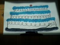 Vanilla Cake naive drawing