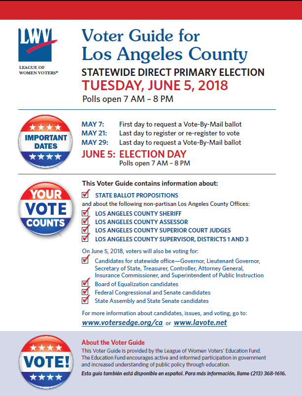 June 5 Voter Guide English