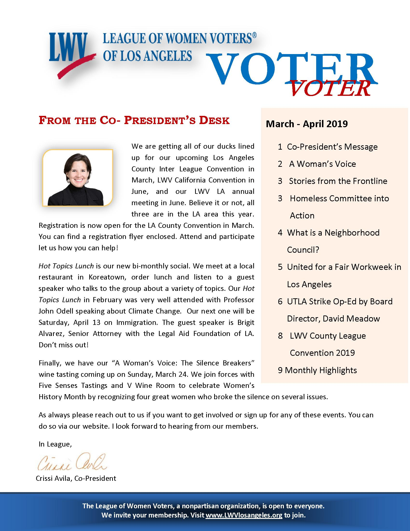 March 2019 VOTER