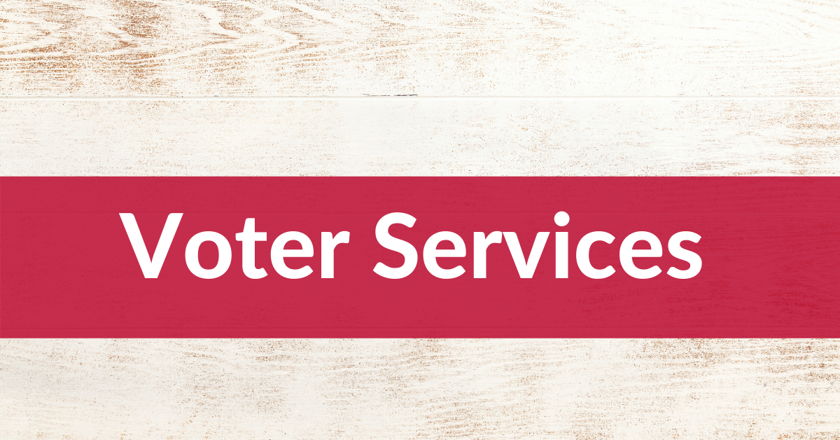 Voter Services Header