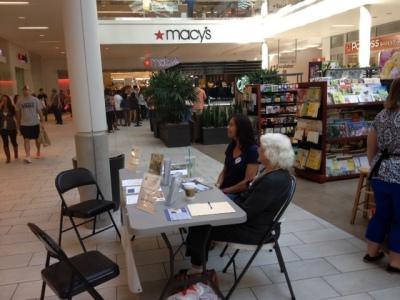 Voter Registration Event Photo - September 2013 at Roseville Galleria
