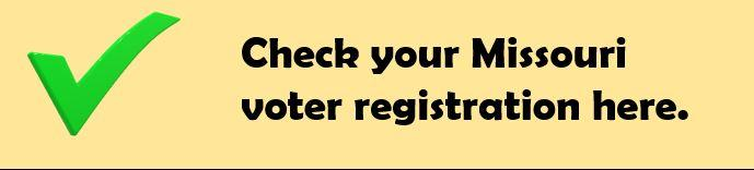 Check your voter registration.