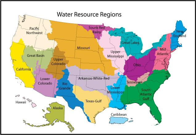 water resource regions of the us