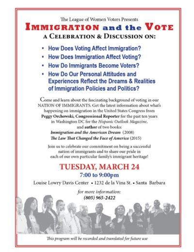 Immigration and the Vote Event Flyer