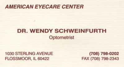 Dr. Wendy Schweinfurth
