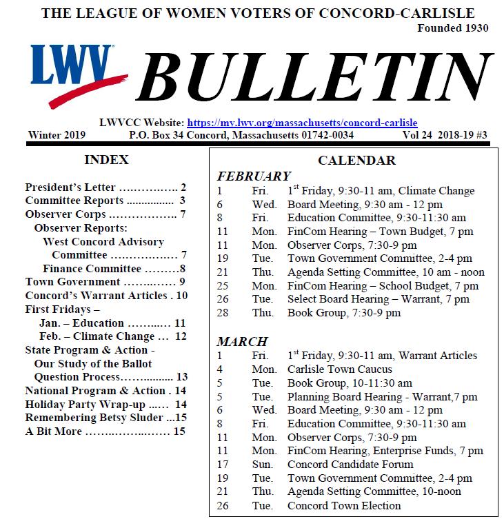 winter bulletin