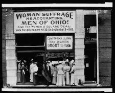 Woman Suffrage Headquarters, Ohio - Historical Photo