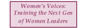 """Women's Voices: Training the Next Gen of Women Leaders"" in purple box"