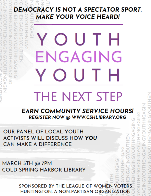 Youth Engaging Youth Flyer - March 5, 2019