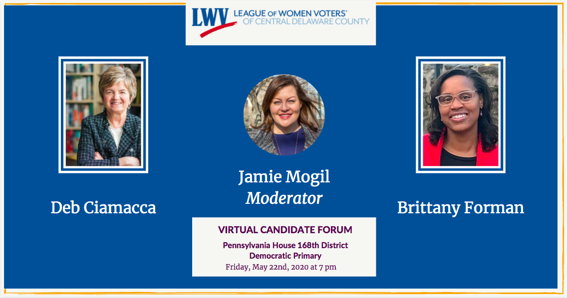 Virtual Candidate Forum Forman/Ciamacca
