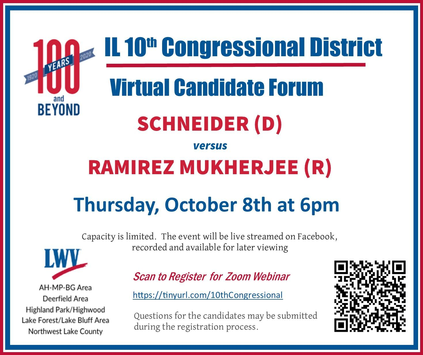 IL 10th Congressional District Virtual Candidate Forum