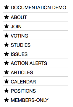 Example of the Sidebar on a MyLO site