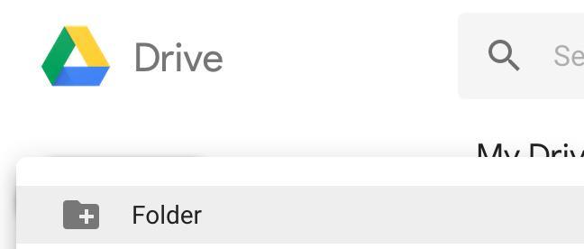 Upload new folder to Google Drive