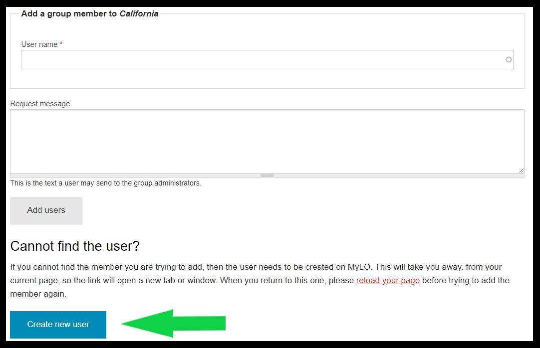 MyLO Doc - Create new user
