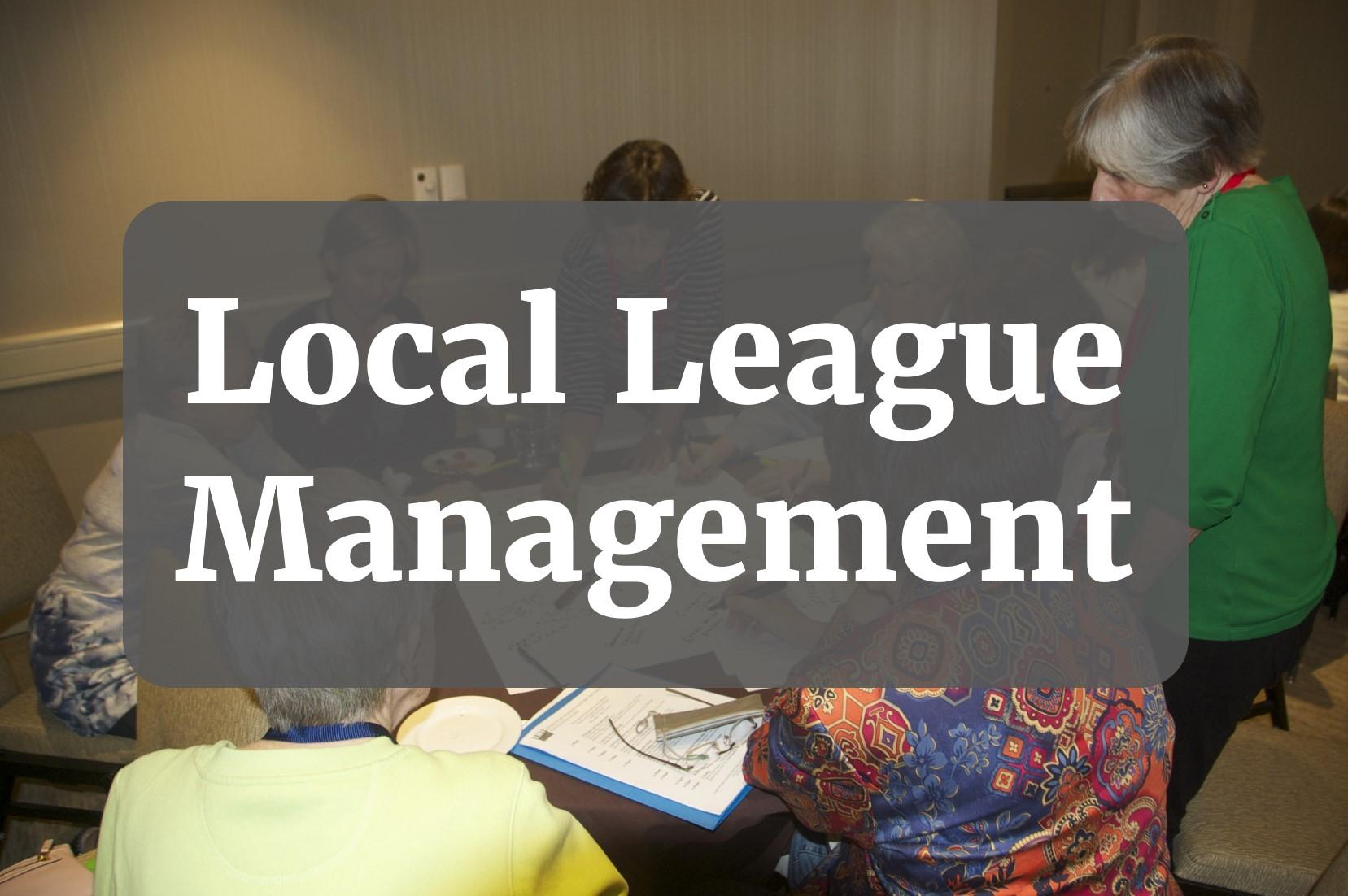 Local League Management button