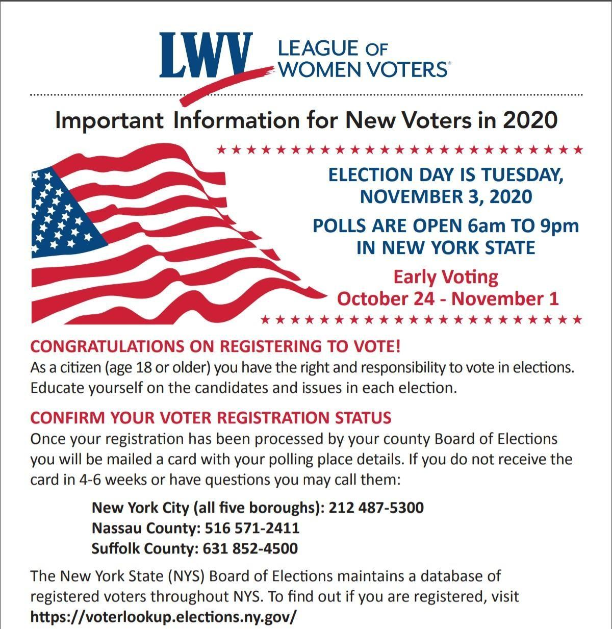 Important Information for New Voters in 2020