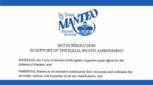 Town of Manteo (NC) 2017-03 Resolution - IN SUPPORT OF THE EQUAL RIGHTS AMENDMENT