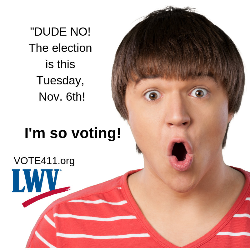 Surprised young man I'm So Voting Dude