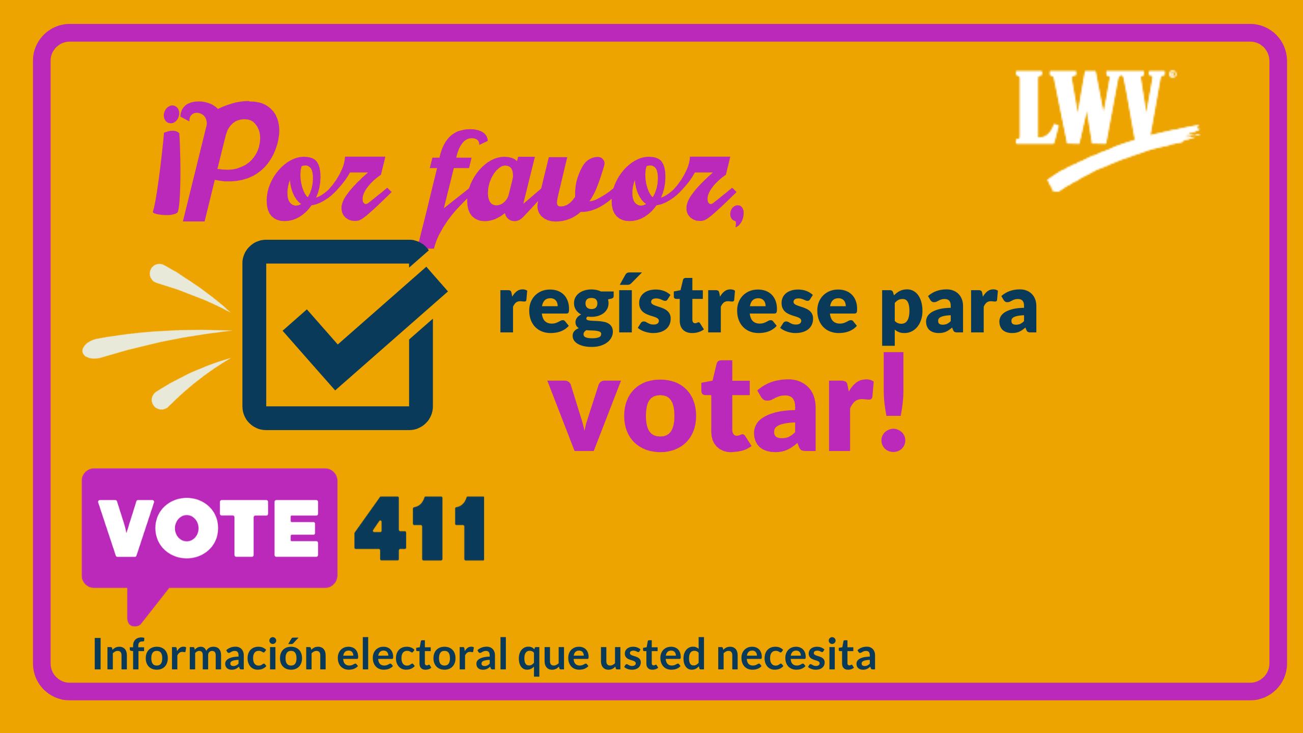 registrase para votar