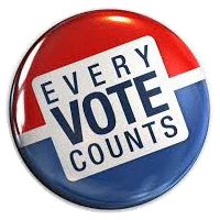 Graphic that says Every Vote Counts