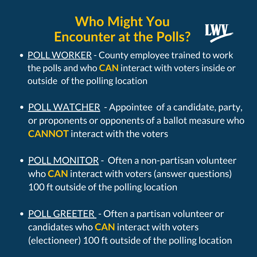 Who might you meet at the polls?
