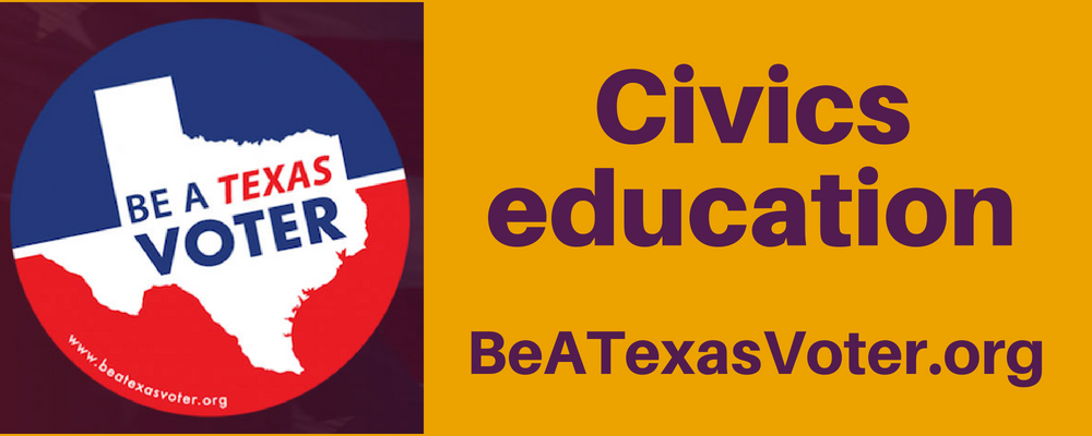 Graphic Civics education beatexasvoter.org