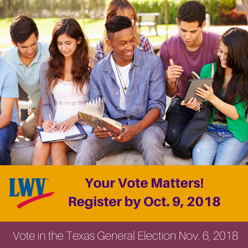 Register Texas General Election graphic