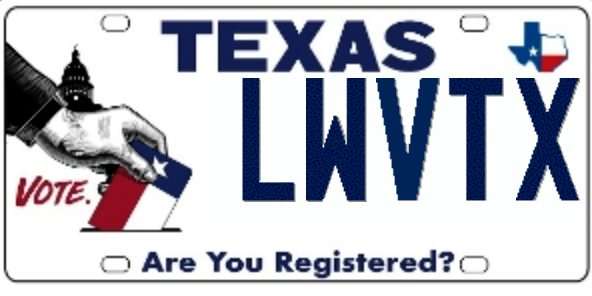 Register to Vote License Plate