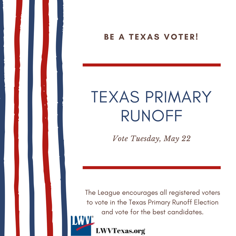 Texas Primary Runoff election May 22