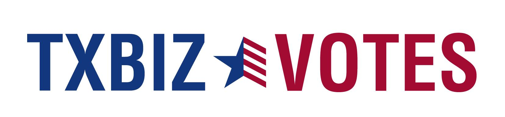 Graphic with TXBIZ VOTES logo