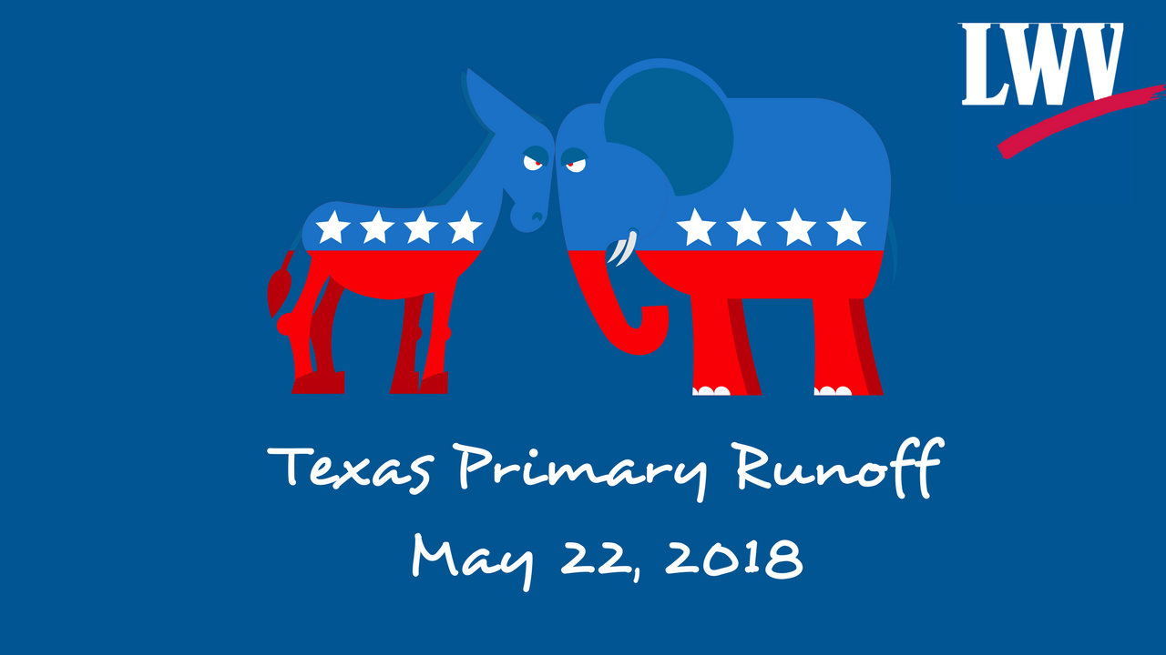 Texas Primary Runoff May 22 2018