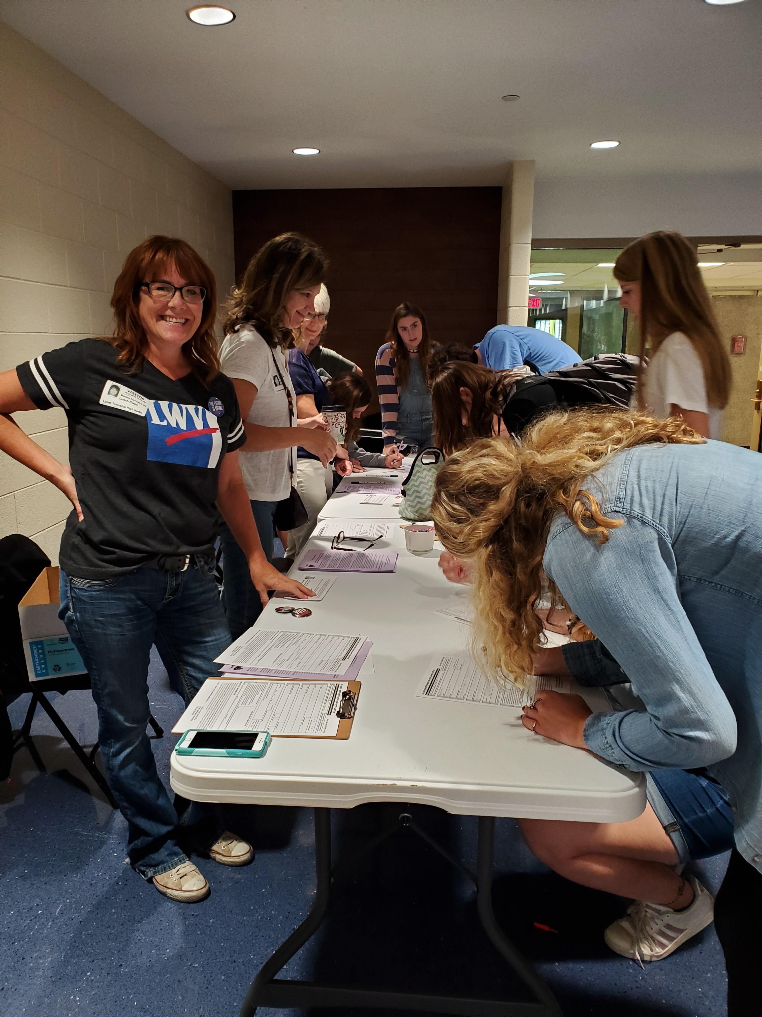 Voter Registration Day at LTHS