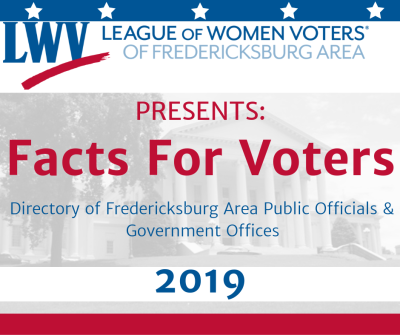 League of Women Voters of Fredericksburg Area Facts For Voters 2019 image