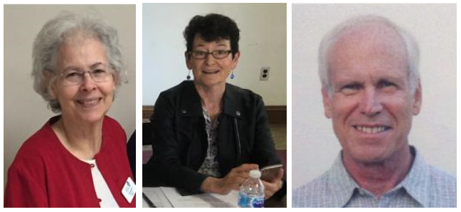 headshots of three individuals - nominating committee of LWVNCC in 2019