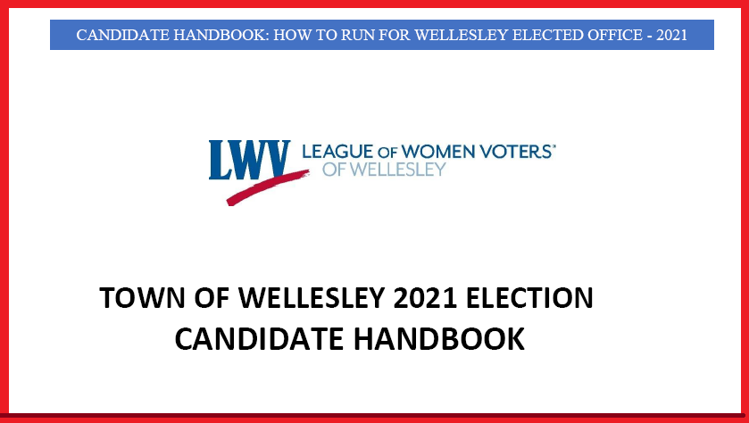 Wellesley 2021 Election Handbook