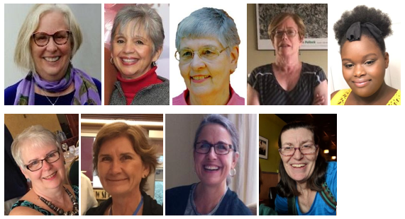 headshots of 7 individuals - board members of LWVNCC in 2019