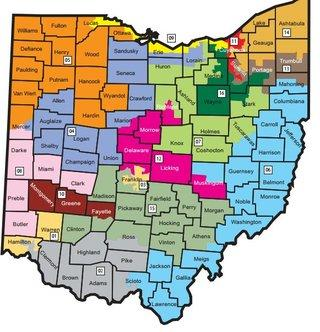 Ohio congressional districts map