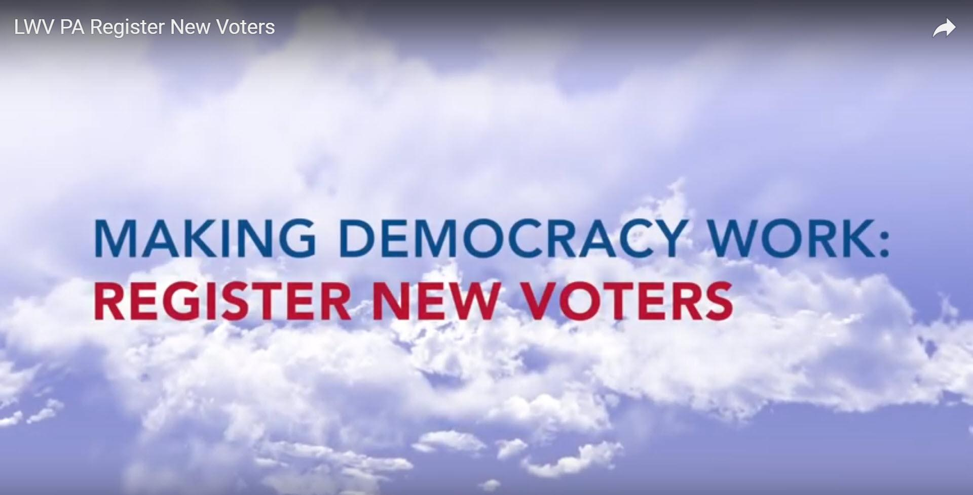 Register new voters