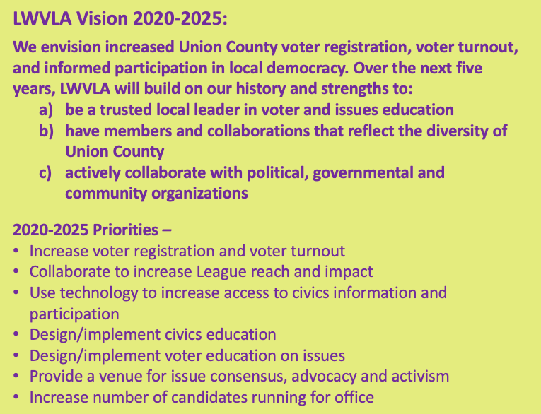 LWVLA Vision and Priorities