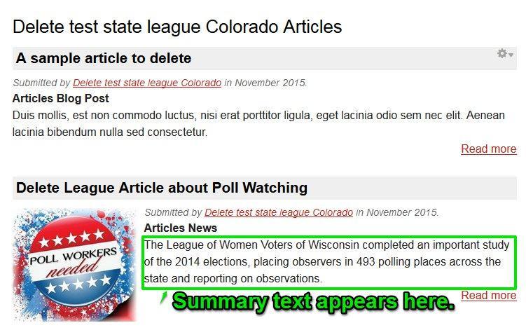Summary text