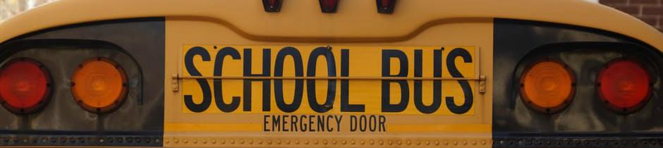 image of the back of the school bus