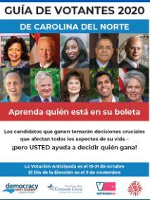 Spanish language Voters Guide NC from Democracy NC and Common Cause