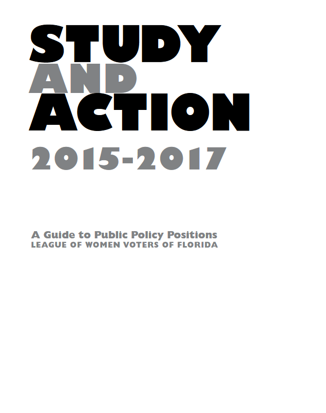 LWV Florida Study & Action Public Policy Positions