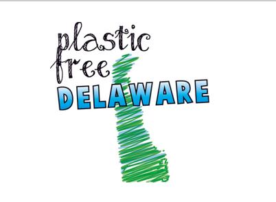 logo for Plastic Free Delaware
