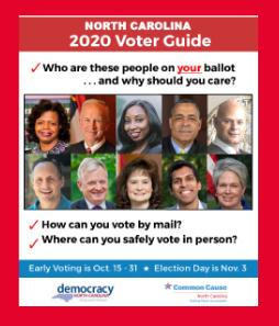 North Carolina Voters Guide by Demcracy NC and Common Cause