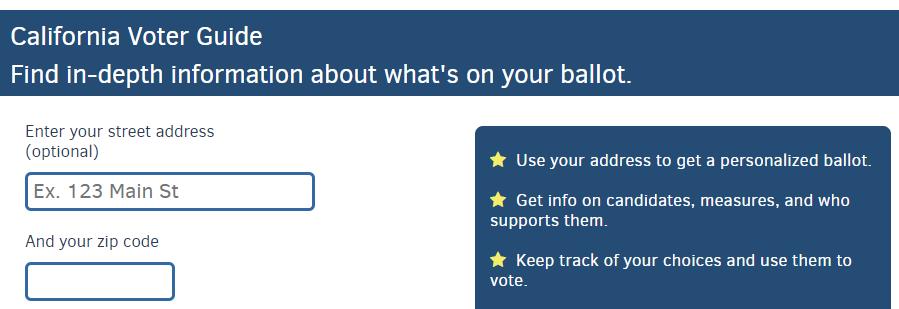 Description of Voters Edge website