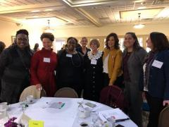 Joan Sampieri with Gov Whitmer and others at conference