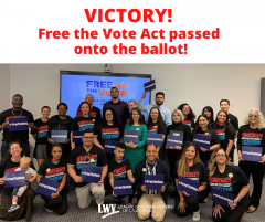 Free the vote, voting rights, california, voting, formerly incarcerated, League of Women Voters, elections, cavotes