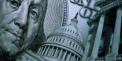 money in politics image of dollar bill at the capitol showing corruption