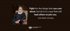 Supreme Court Justice Ruth Bader Ginsberg, RGB, equality, Stephanie Doute, LWVC